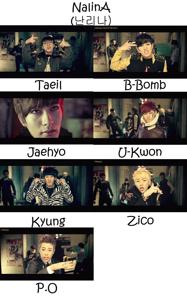 "The members of Block B in the ""NalinA"" MV"