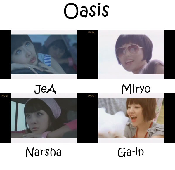 "The members of Brown Eyed Girls in the ""Oasis"" MV"