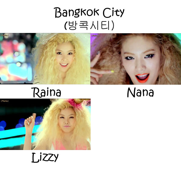 "The members of Orange Caramel in the ""Bangkok City"" MV"