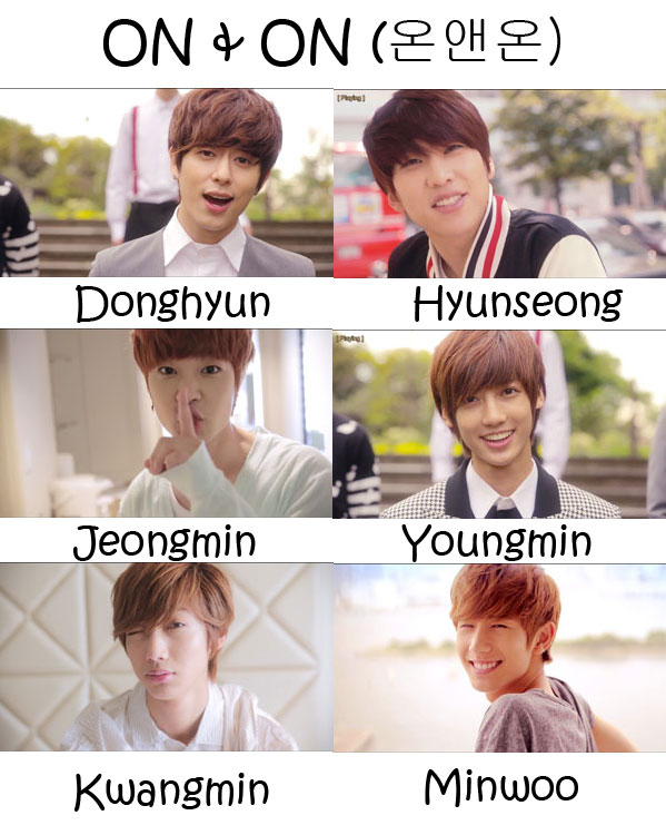 "The members of Boyfriend in the ""ON & ON"" MV"