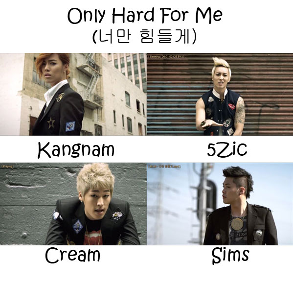 "The members of M.I.B in the ""Only Hard For You"" MV"