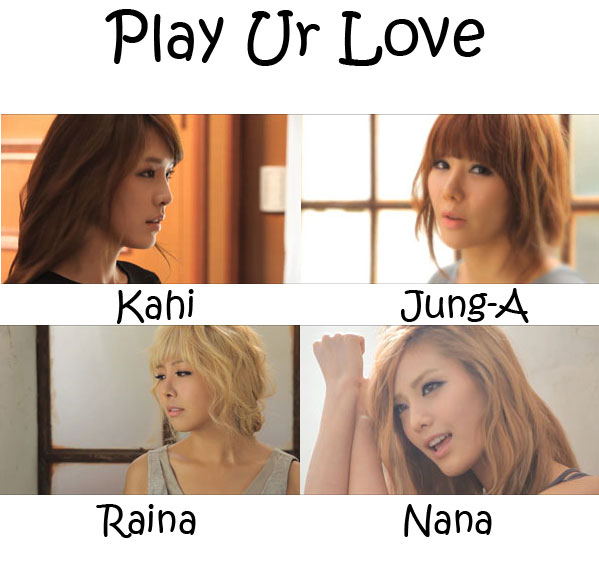 "The members of After School in the ""Play Ur Love"" MV"