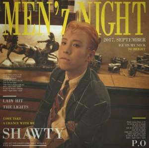 "Album art for P.O's album ""Men'z Night"""