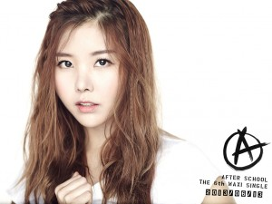 """After School's Raina """"First Love"""" promotional picture."""