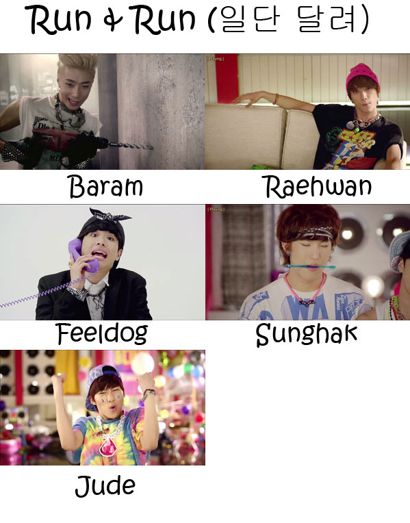 "The members of BIGSTAR n the ""Run & Run"" MV"