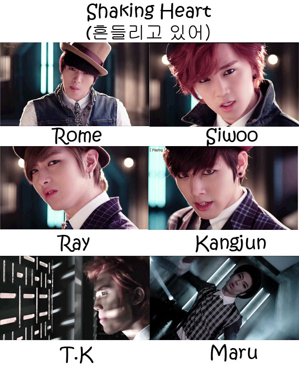 """The members of C-Clown in the """"Shaking Heart"""" MV"""