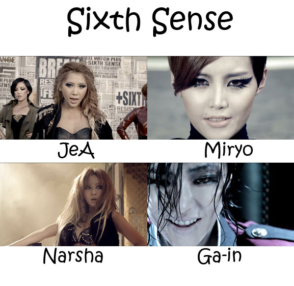 "The members of Brown Eyed Girls in the ""Sixth Sense"" MV"