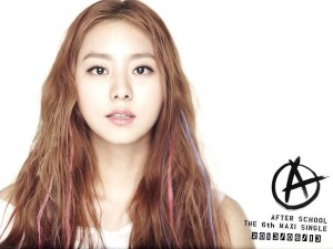 """After School's Uee (U-ie) """"First Love"""" promotional picture."""