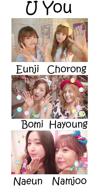 "The members of APink in the ""U You"" MV"