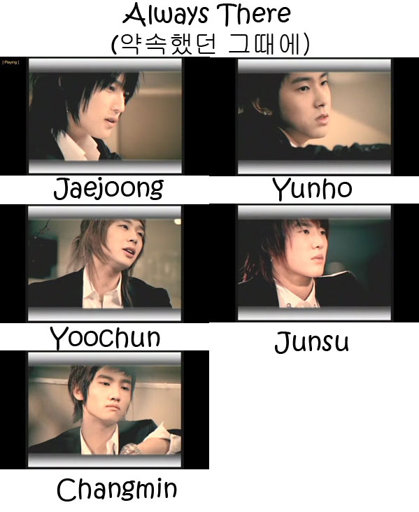 """The members of TVXQ in the """"Always There"""" MV"""