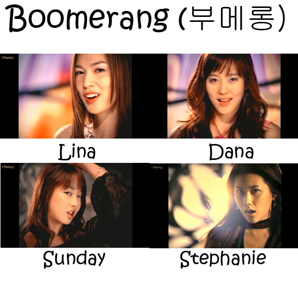 "The members of CSJH The Grace in the ""Boomerang"" MV"