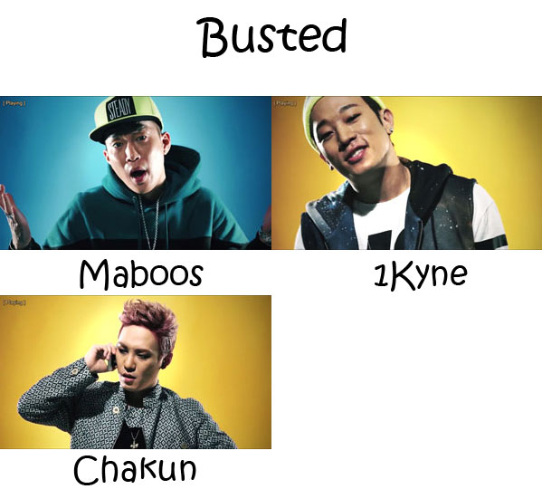 "The members of Electroboyz in the ""Busted"" MV"