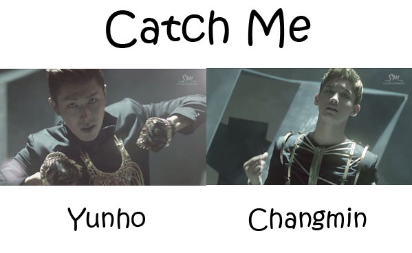 "The members of TVXQ in the ""Catch Me"" MV"