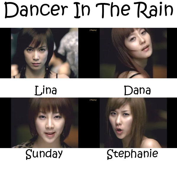 "The members of CSJH The Grace in the the ""Dancer In The Rain"" MV"