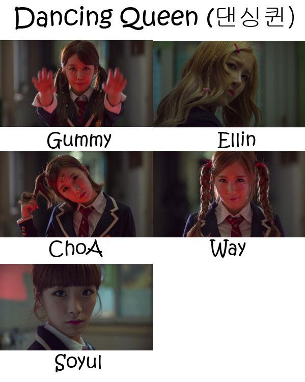 """The members of Crayon Pop in the """"Dancing Queen"""" MV"""