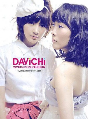 "Album art for Davichi's 1st album repackaged ""Vivid Summer"""