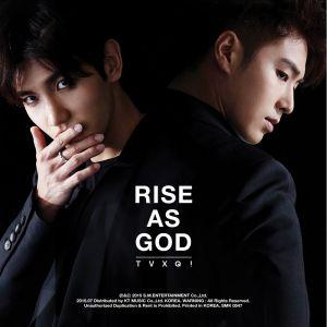 "Album art for Dong Bang Shin Ki (DBSK)'s album ""Rise As God"""
