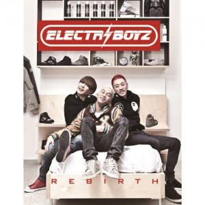 "Album art for Electroboyz's album ""Rebirth"""