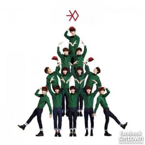 "Album art for EXO's album ""Miracles In December"""