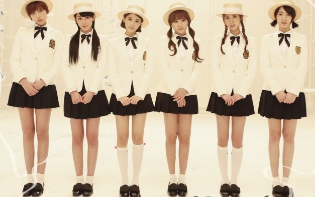 "F-VE Dolls' ""First Love"" promotional picture."