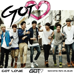 "Album art for GOT7's album ""Got Love"""