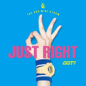 "Album art for GOT7's album ""Just Right"""