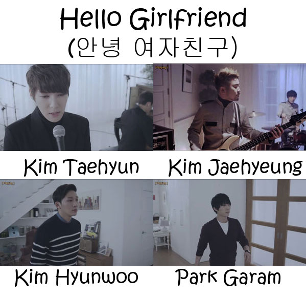 "The members of Dickpunks in the ""Hello Girlfriend"" MV"