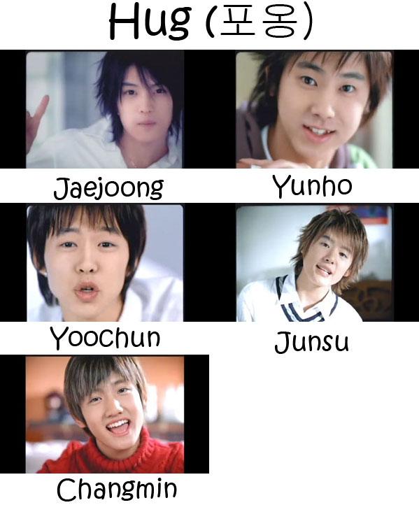 "The members of TVXQ in the ""Hug"" MV"