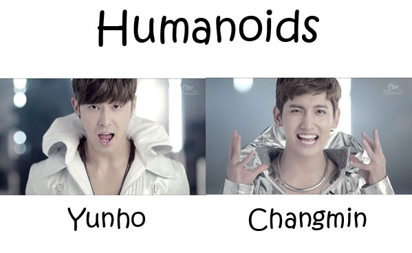"The members of TVXQ in the ""Humanoids"" MV"