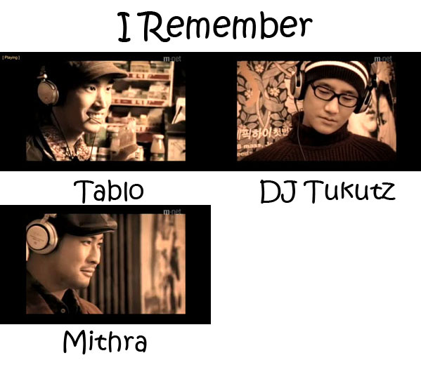 """The membes of EPIK HIGH in the """"I Remember"""" video"""