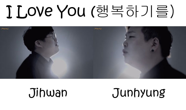 """The members of 2BiC in the """"I Love You"""" MV"""