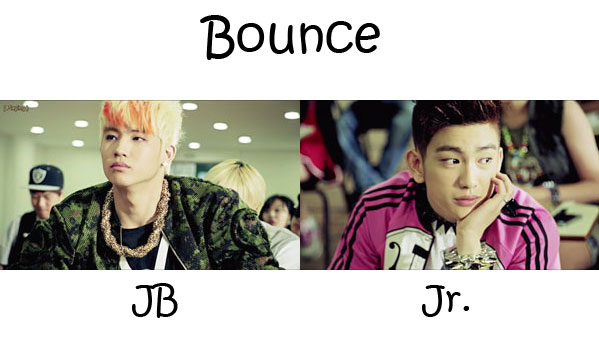 "The members JJ Project in the ""Bounce"" MV"