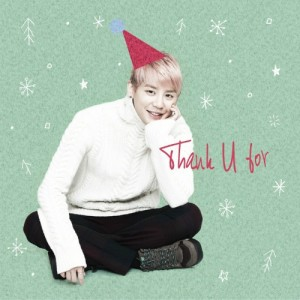 "Album art for Xia Junsu's album ""Thank U For"""