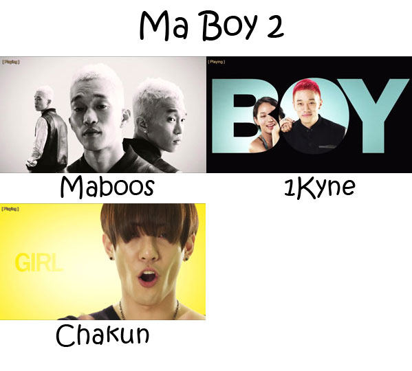 "The members of Electroboyz in the ""Ma Boy 2"" MV"
