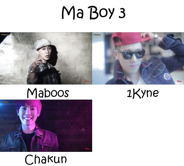 "The members of Electroboyz in the ""Ma Boy 3"" MV"