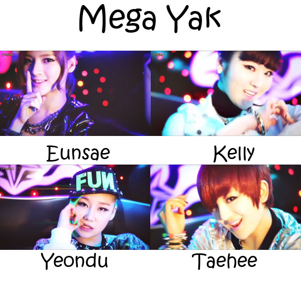 "The members of Delight in the ""Mega Yak"" MV"