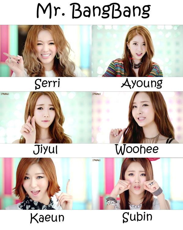"The members of Dal★Shabet in the ""Mr. BangBang"" MV"