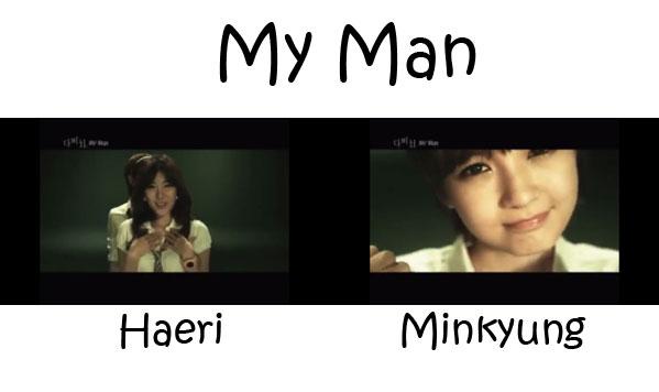 "The members of Davichi in the ""My Name"" MV"