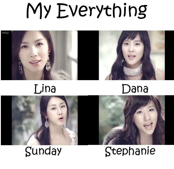 """The members of CSJH The Grace in the """"My Everything"""" MV"""