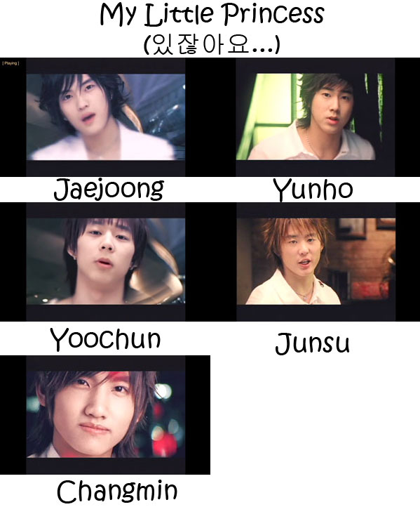 "The members of TVXQ in the ""My Little Princess"" MV"
