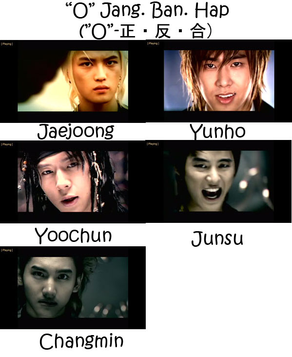 "The Members of TVXQ in the ""O-Jang.Ban.Hap"" MV"