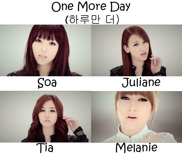"The members of ChoColat in the ""One More Day"" MV"