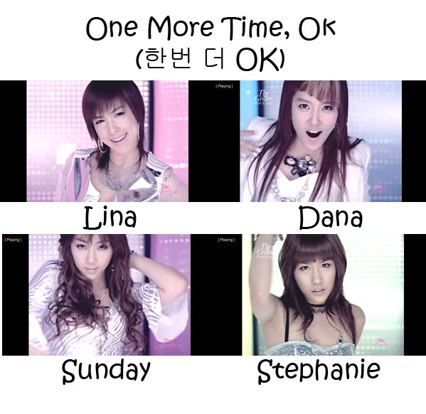 "The members of CSJH The Grace in the ""One More Time, OK"" MV"