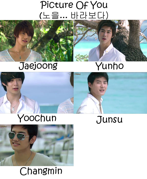 "The members of TVXQ in the ""Picture Of You"" MV"