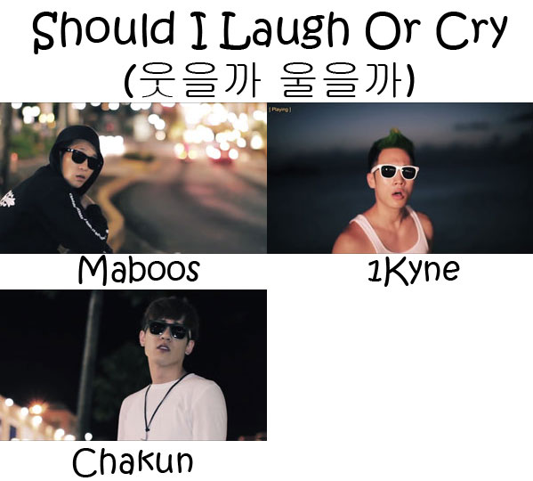 "The members of Electroboyz in the ""Should I Laugh Or Cry"" MV"