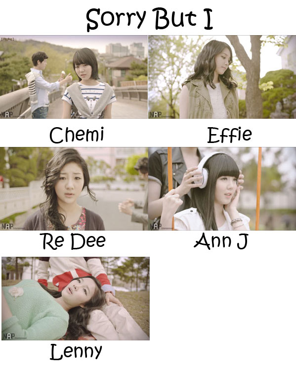 "The members of C-Real in the ""Sorry But I"" MV"