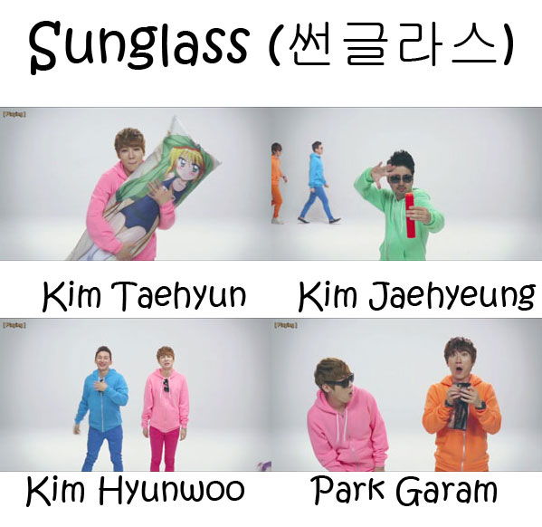 "The members of Dickpunks in the ""Sunglass"" MV"