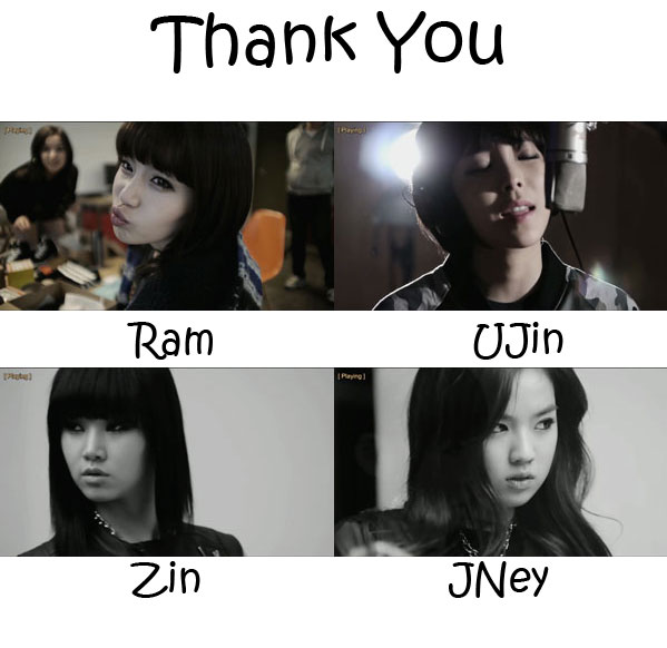 "The members of D-UNIT in the ""Thank You"" MV"