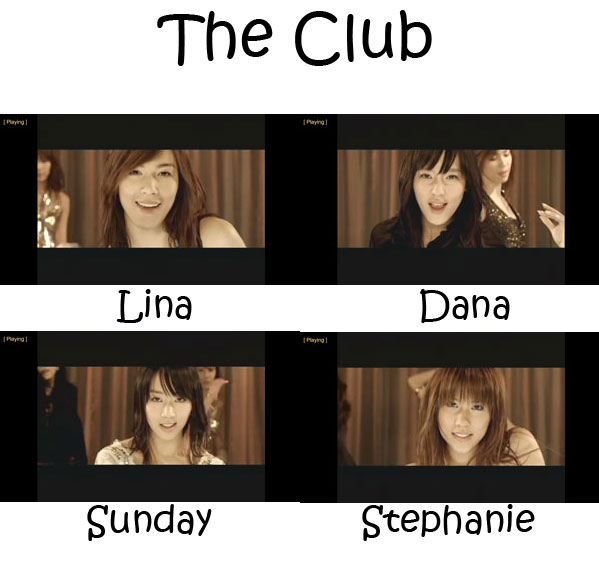 "The members of CSJH The Grace in the ""The Club"" MV"
