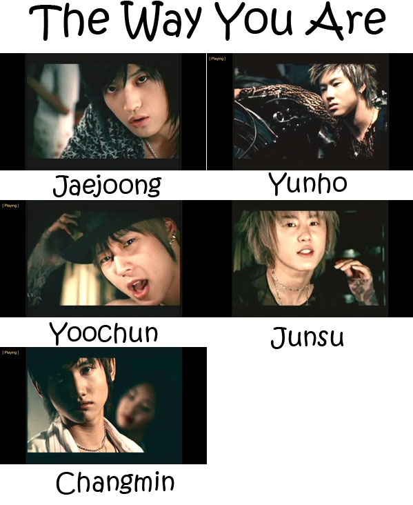 "The members of TVXQ in the ""The Way You Are"" MV"